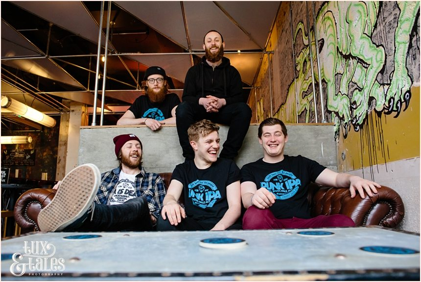 Brew Dog Sheffield staff group photograph