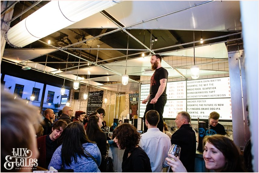Manager's opening speech at Brew Dog Sheffield