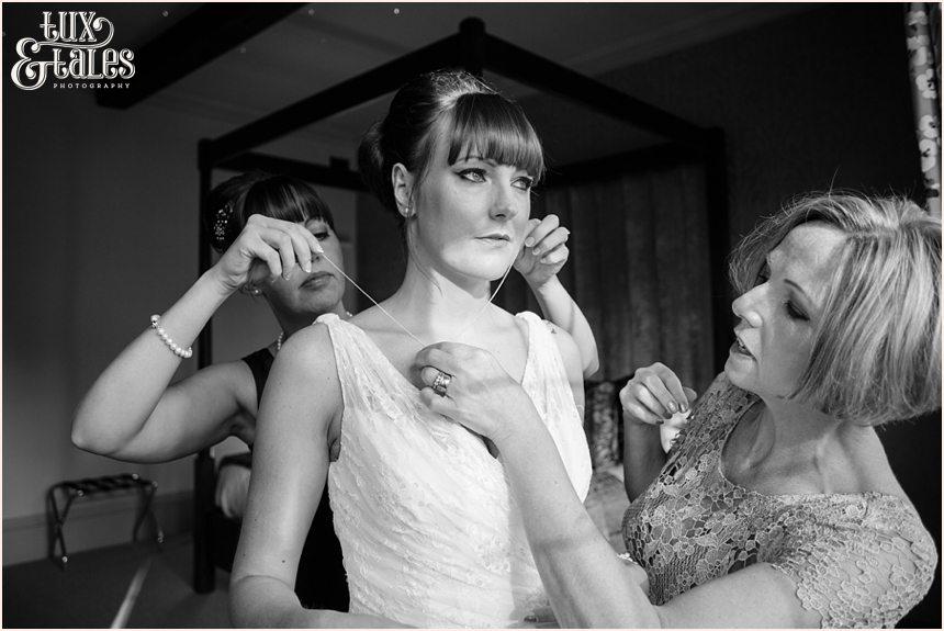 Bride gets ready at hogarths hotel