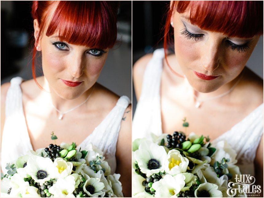 Portraits of redhead bride at hogarths hotel