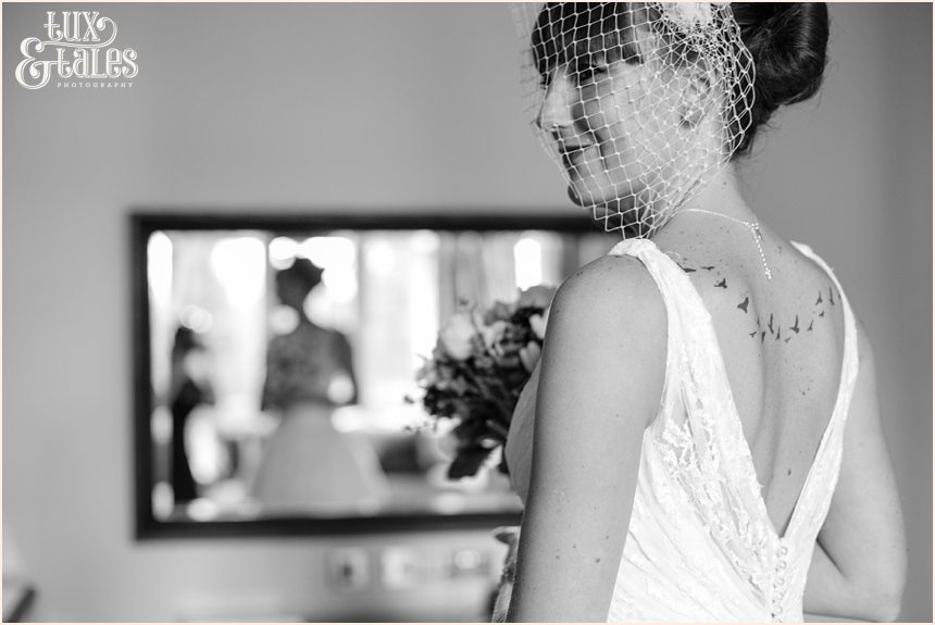 Beautiful bride at hogarths hotel wedding photography