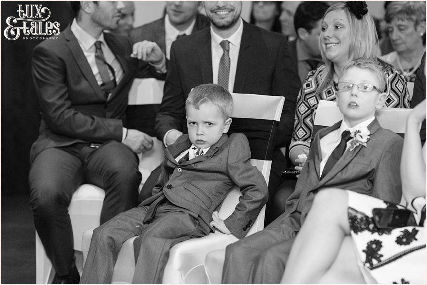 Grumpy paigeboy at hogarths hotel wedding