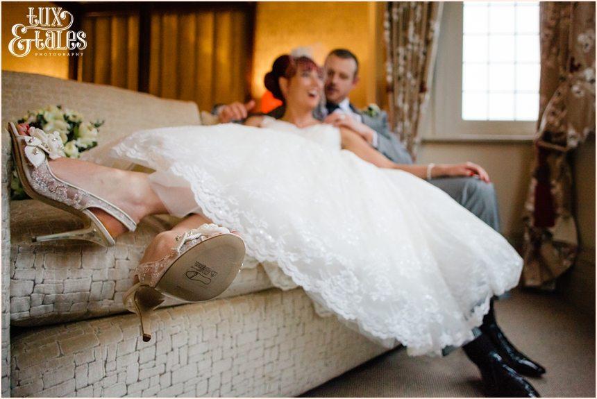 Wedding photography at hogarths hotel redhead bride