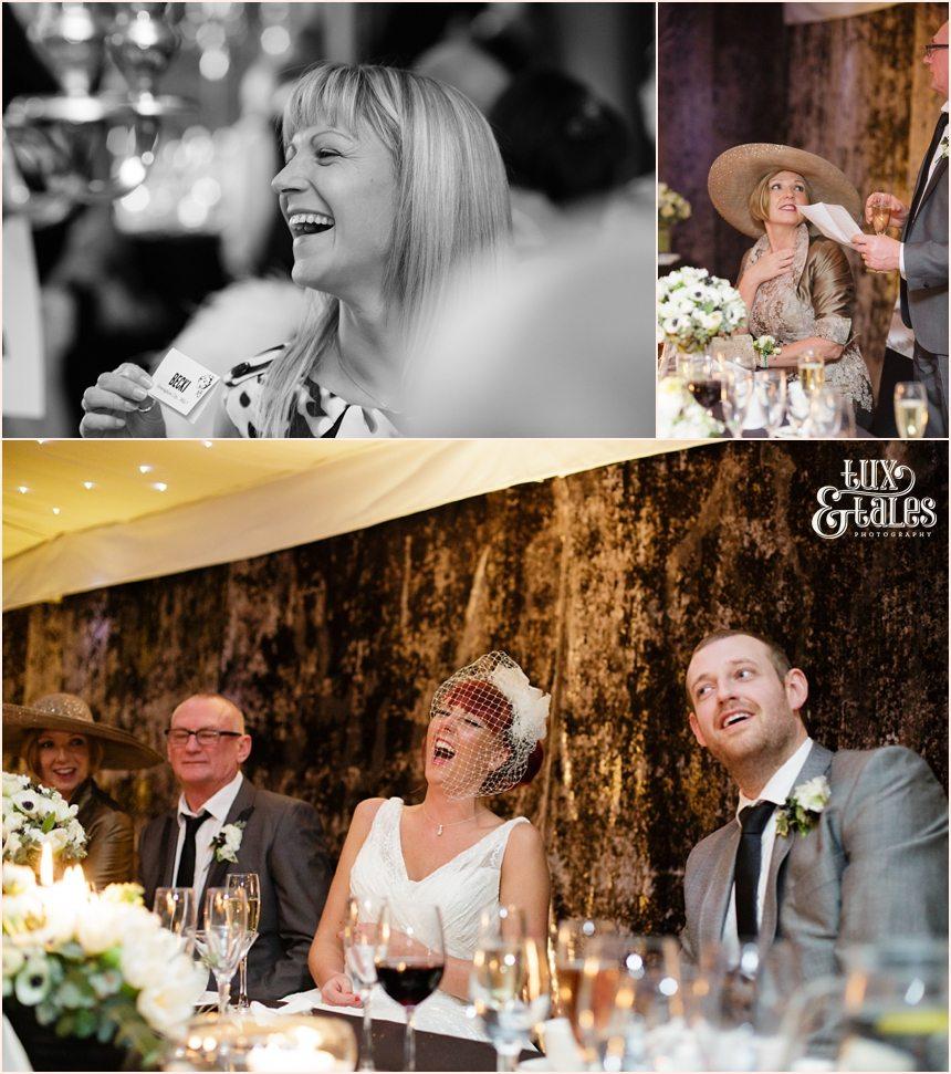 Laughing and joking at hogarths wedding