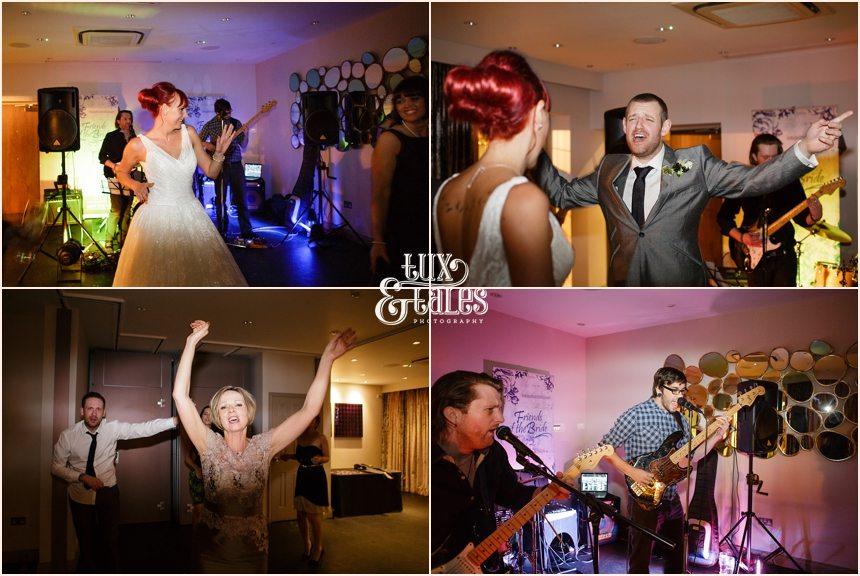 funky dancing at hogarths hotel wedding