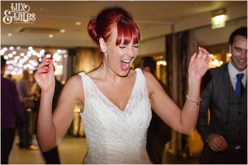 Happy Bride at Hogarths Hotel Wedding