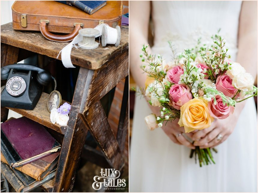 Bohemian wedding elements with flowers