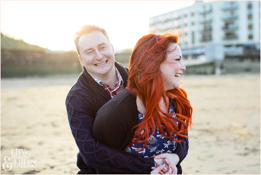 Beautiful redhead at scarborough engagement shoot
