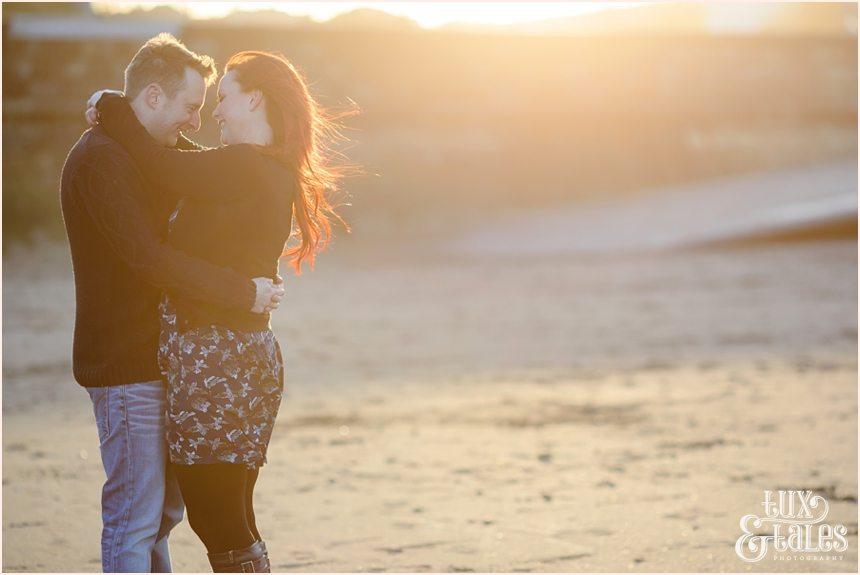 Scarborough sunset at engagement shoot