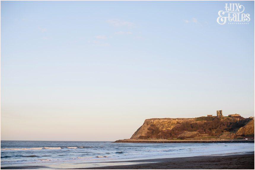 Cliff at north beach in Scarborough