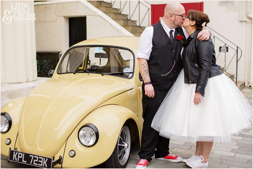 Brighton Wedding Photography Rock and Roll Rockabilly Couple_1692