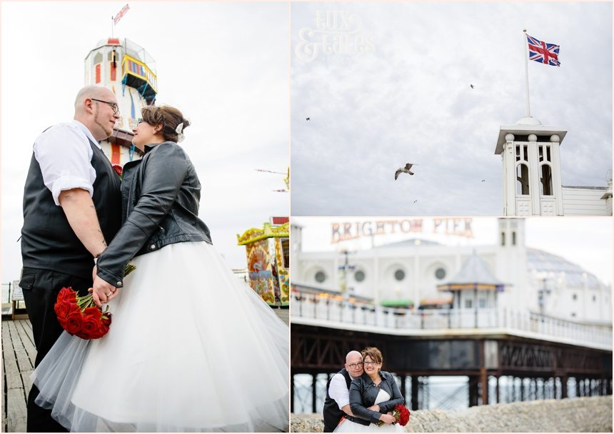 Brighton Wedding Photography Rock and Roll Rockabilly Couple_1711