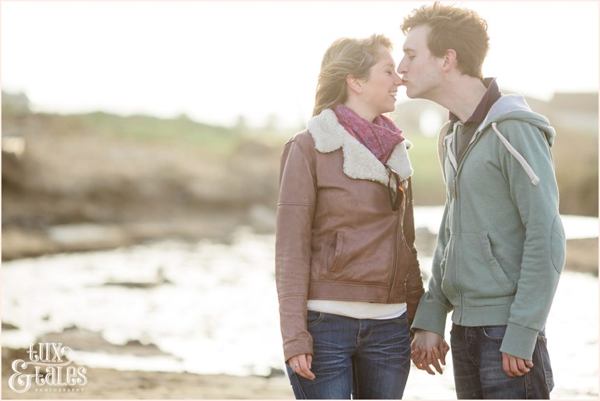 Yorkshire beach engagement shoot in Fraisthorpe
