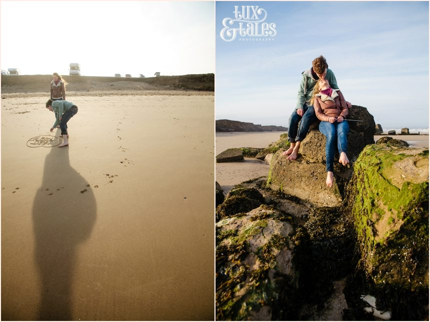 Fraisthorpe beach engagement shoot