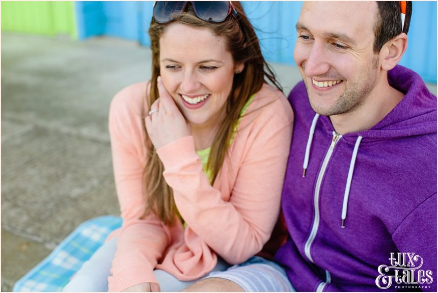 Gorgeous engaged couple at North BEach Engagement Shoot