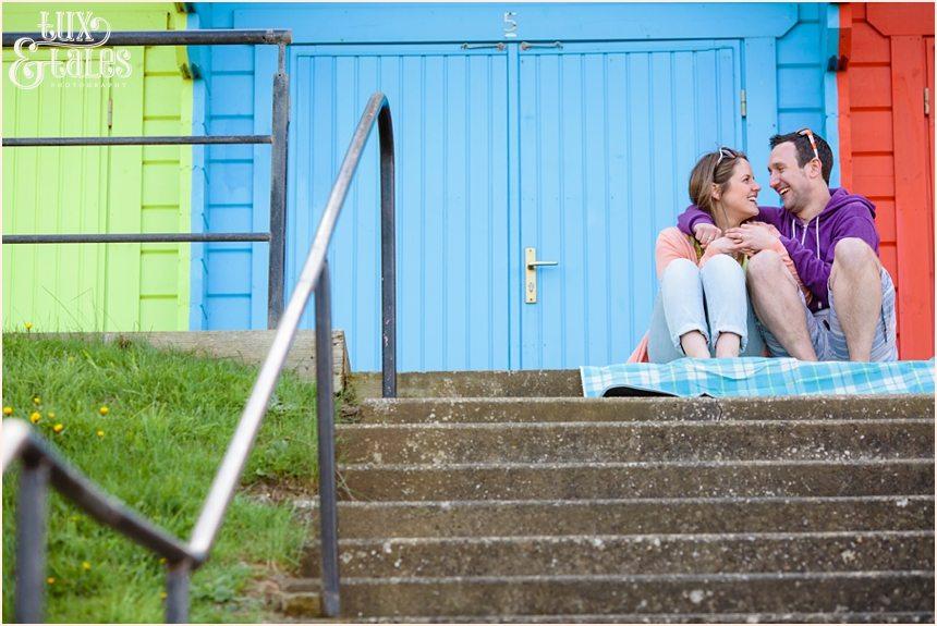 Engagement photography at north beach rainbow huts