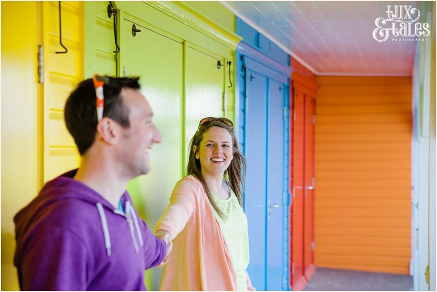 Fun and silly engagement photos at North Beach Scarborough