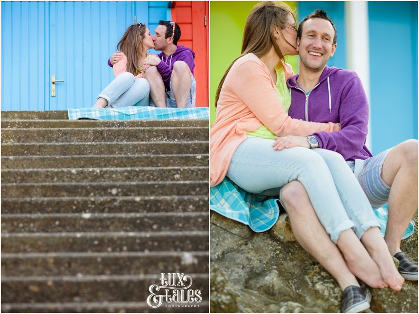 colourful and fun engagement photography in Scarborough