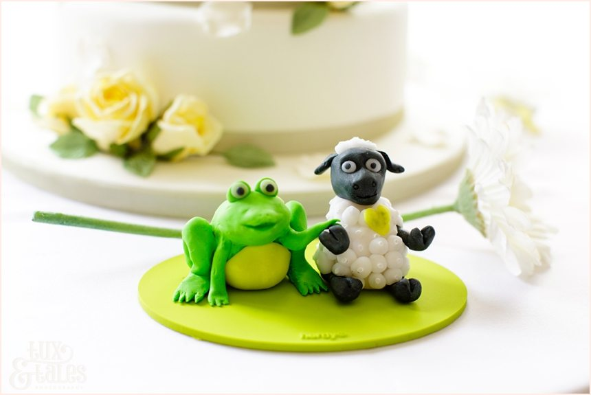 From & Sheep cake topper regen centre wedding photography
