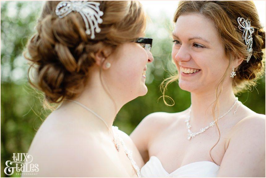 Two beautiful brides at York same sex wedding