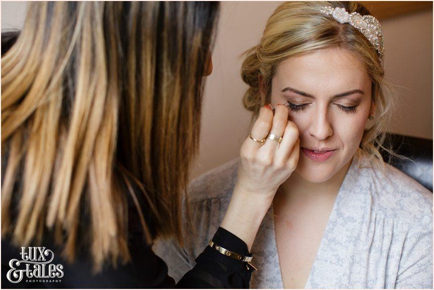 Bridal preparations at Yorkshire Wedding