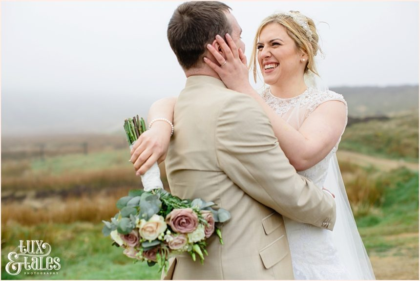 Wedding photographyon the yorkshire moors