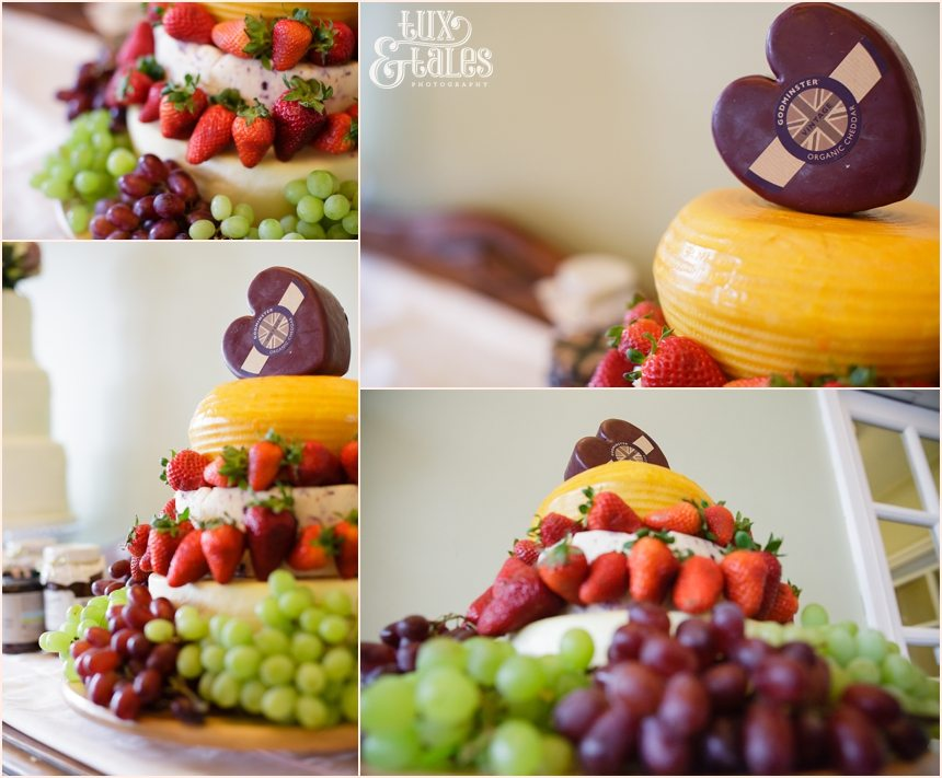 Beautiful wedding cheese cake with heart on top