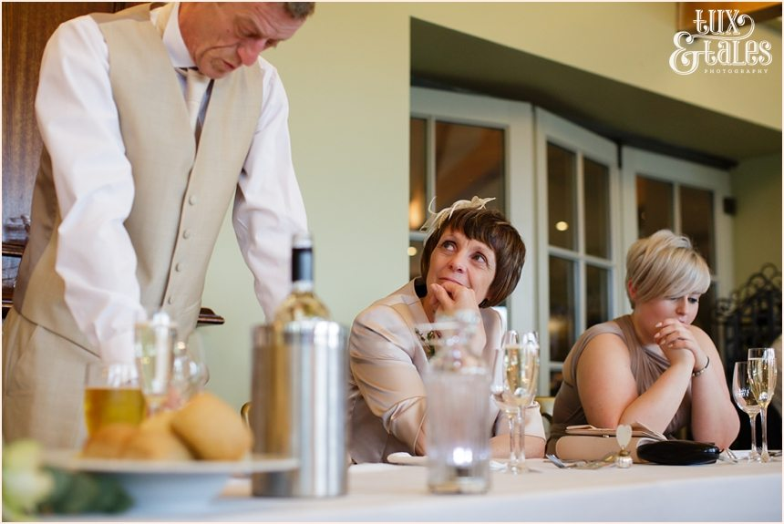 Mother of the groom watche sduring the speeches at the Alma Inn Wedding Photography