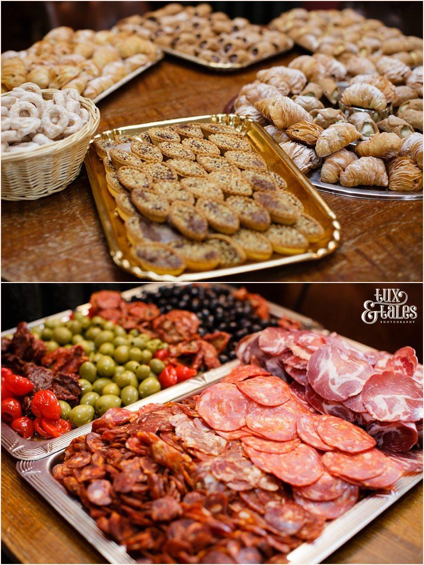 Italian food at wedding