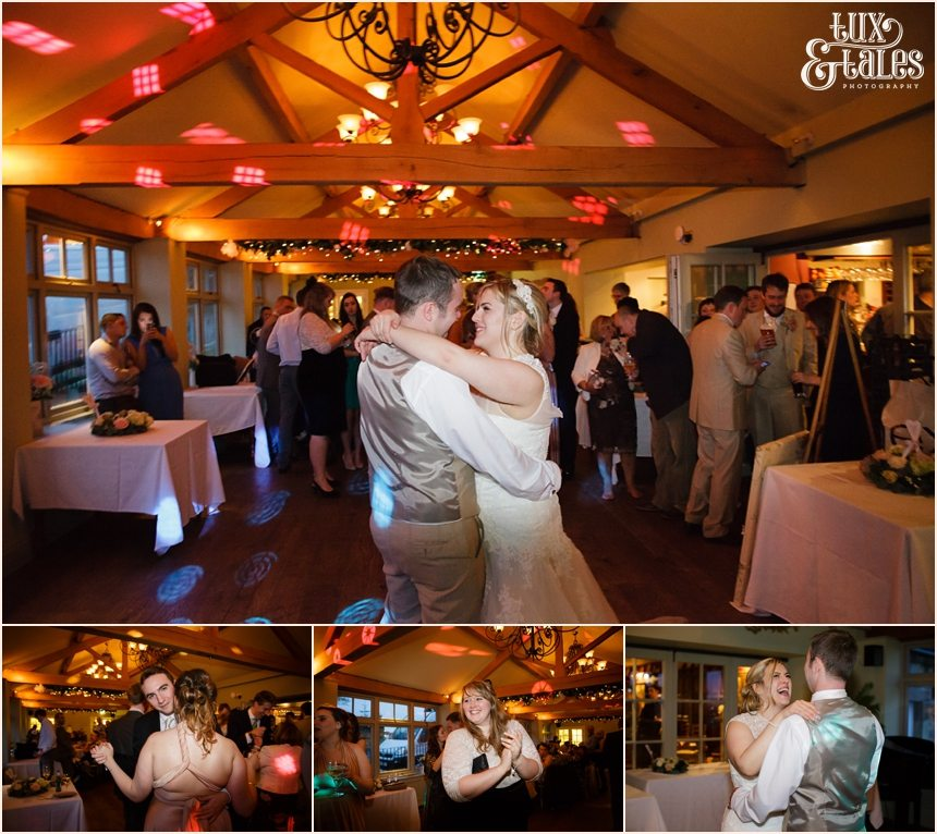 bride & groom first dance at the alma inn in Yorkshire