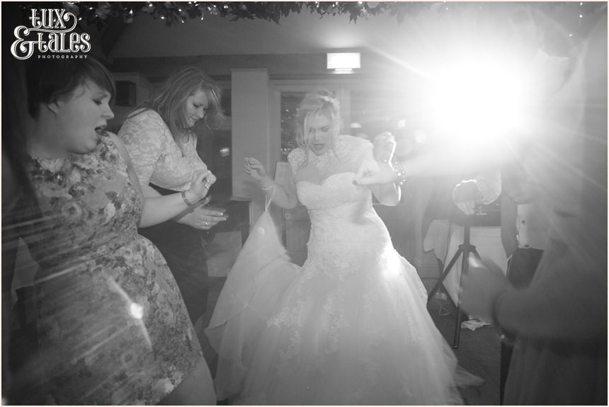 Bride cuts a rug at The Alma Inn Wedding