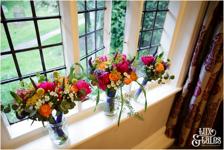 Wedding Photography brightly coloured bouquets