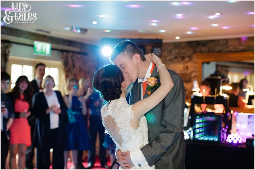 Bride & grooms first dance at Yorkshire wedding