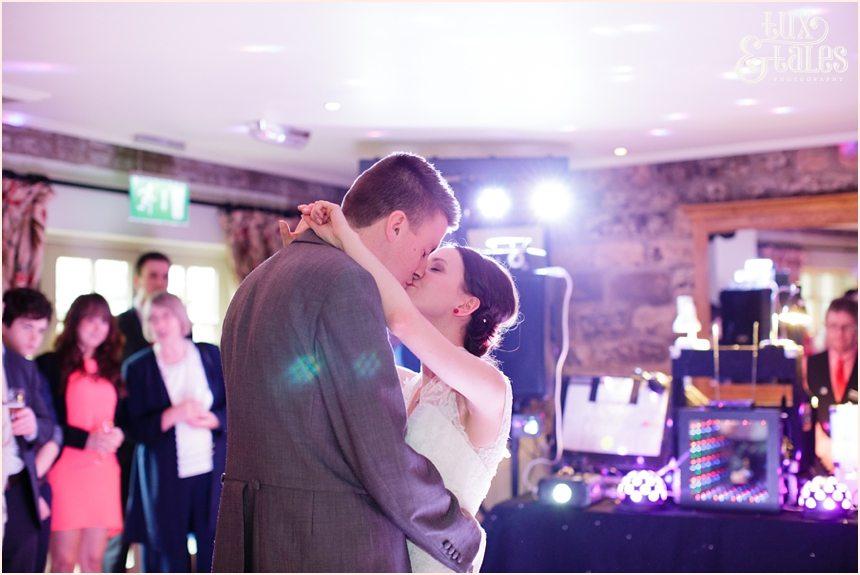 Bride & groom dance at yorkshire wedding