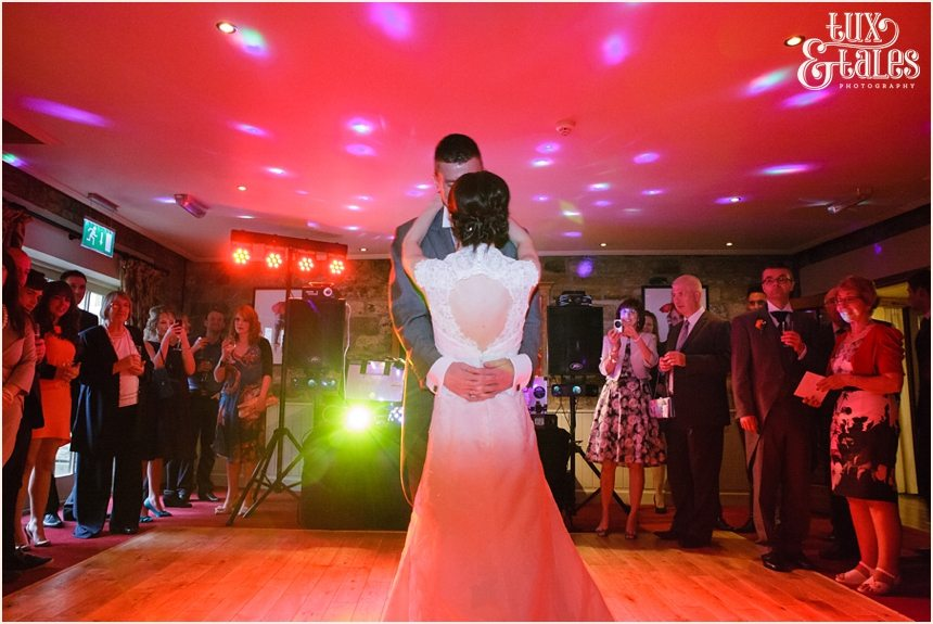 First dance at Yorkshire wedding
