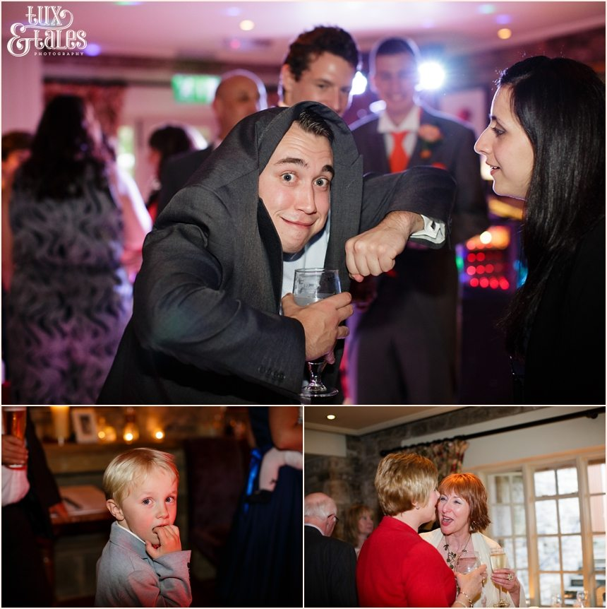Funny party pictures at Yorkshire wedding