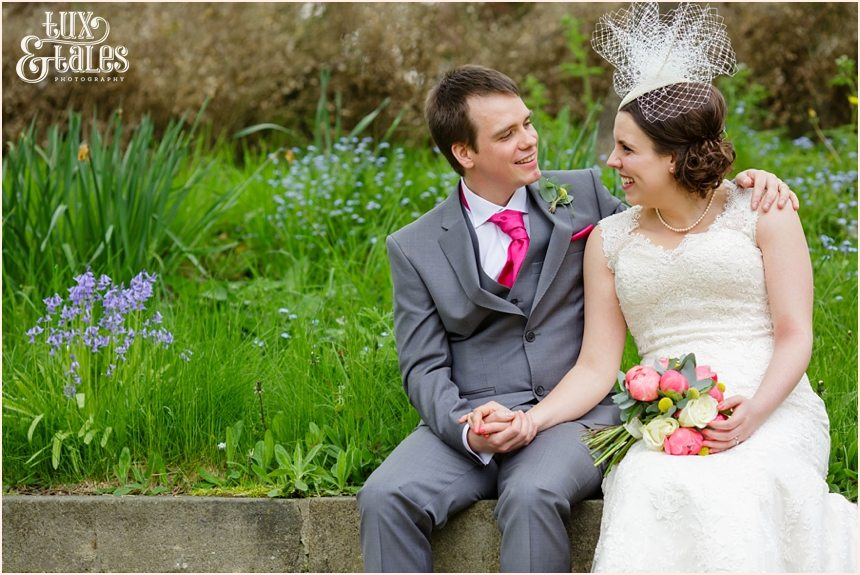Fun relaxed couple getting married at Old Swan Hotel in Harrogate