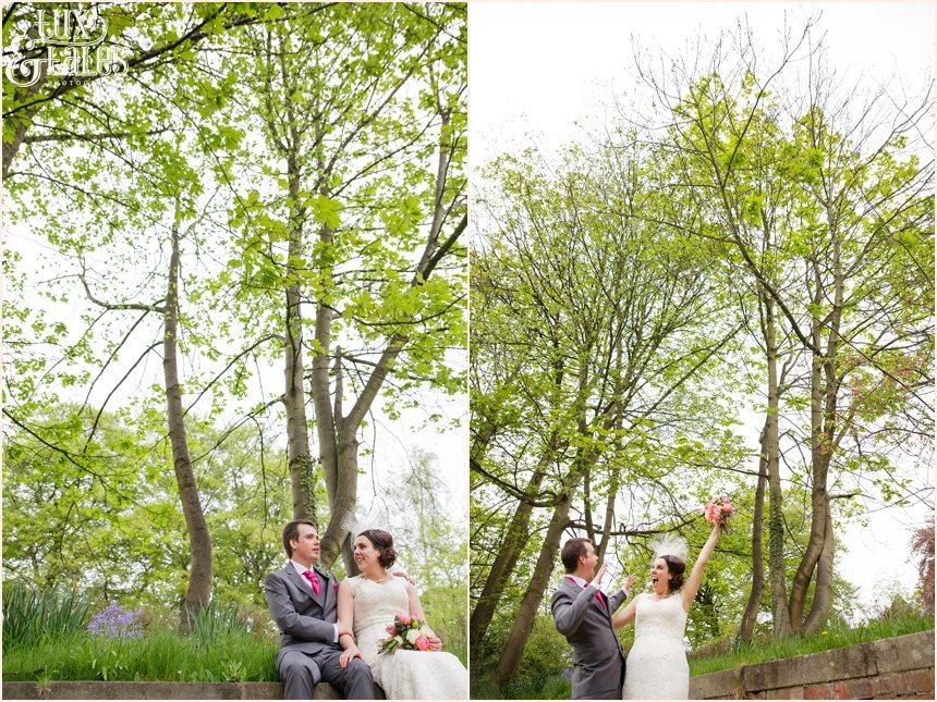 fun natural wedding photographs at the old swan hotel
