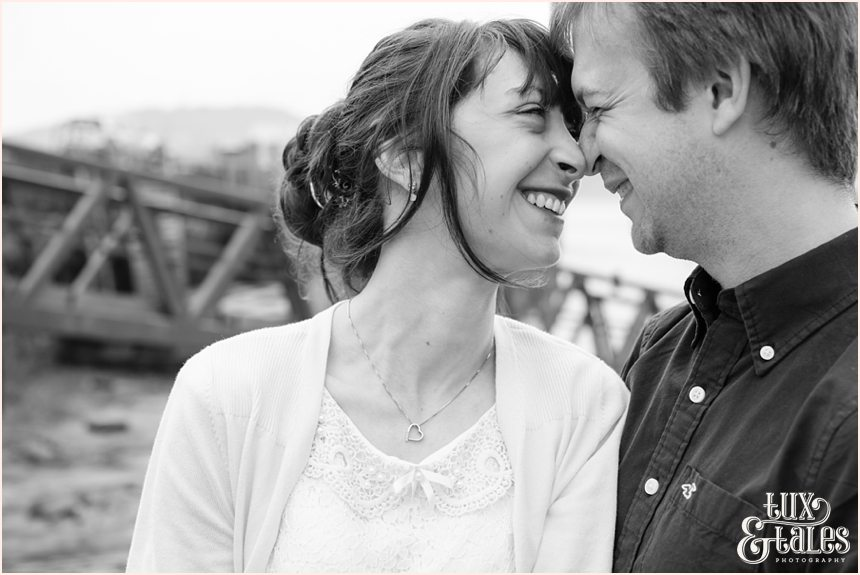 happy couple engagement shoot Scarborough