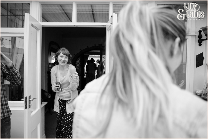 Candid bride preparation photography