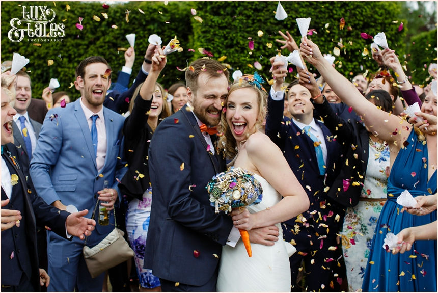 Confetti at Yorkshire Sculpture PArk wedding