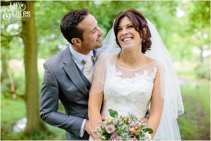 Bride & groom at york wedding