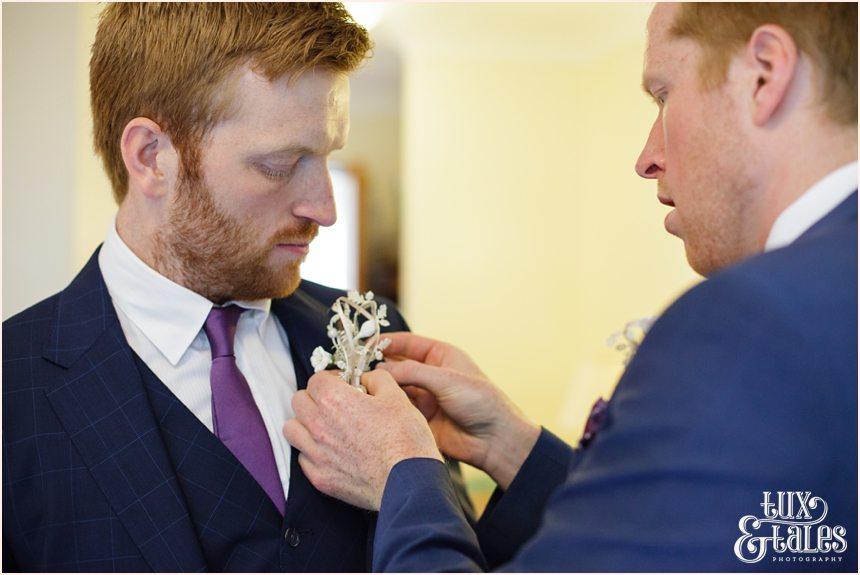 Groom preparation wedding photography Altrincham