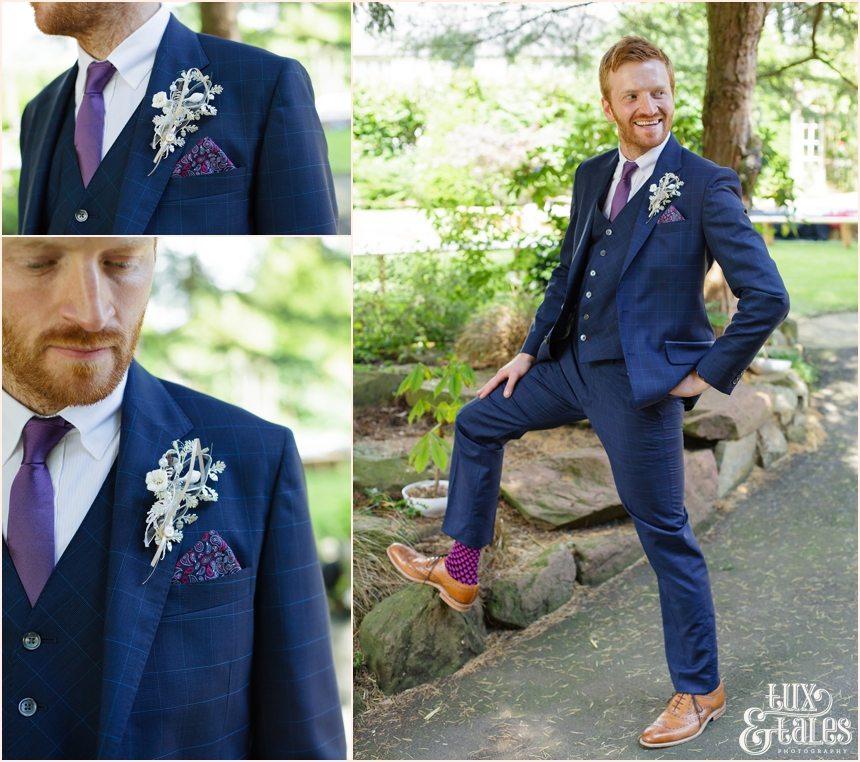 Altrincham wedding photography groom portraits