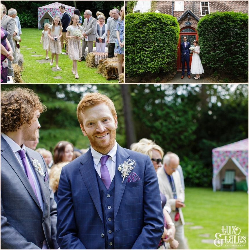 Altrincham back garden wedding photography