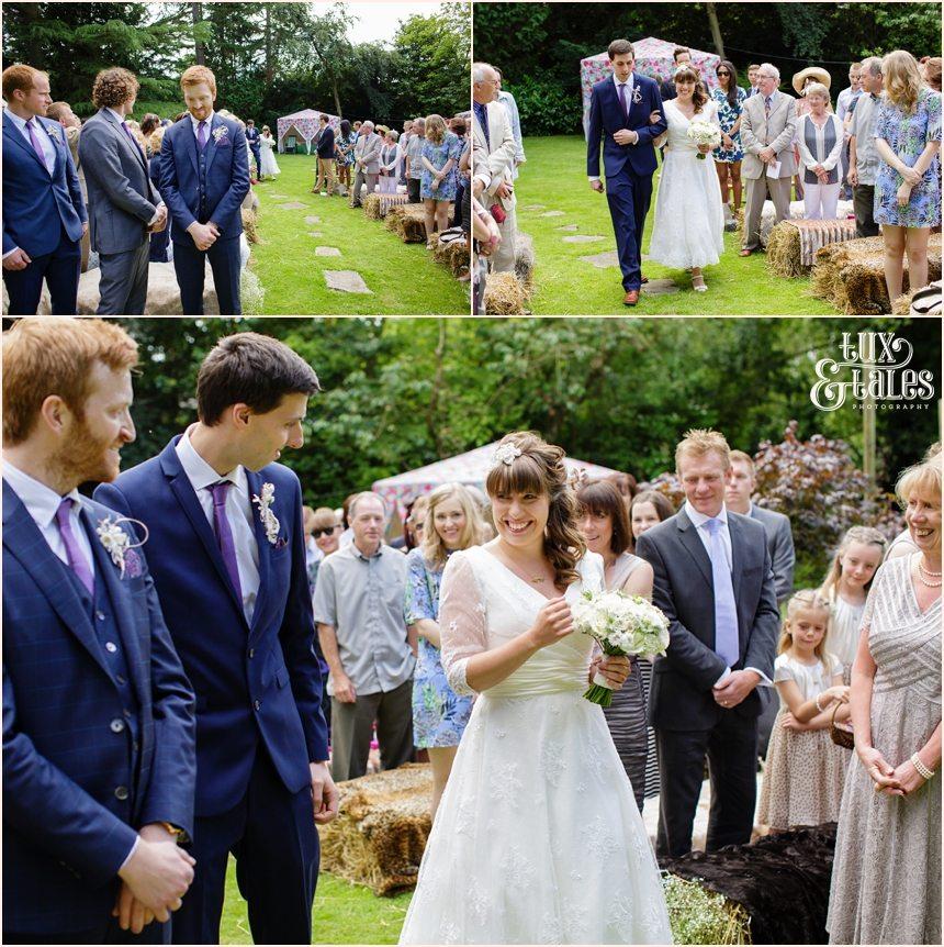 Altrincham back garden tipi wedding photography