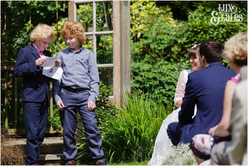 Back garden wedding photography in Altrincham