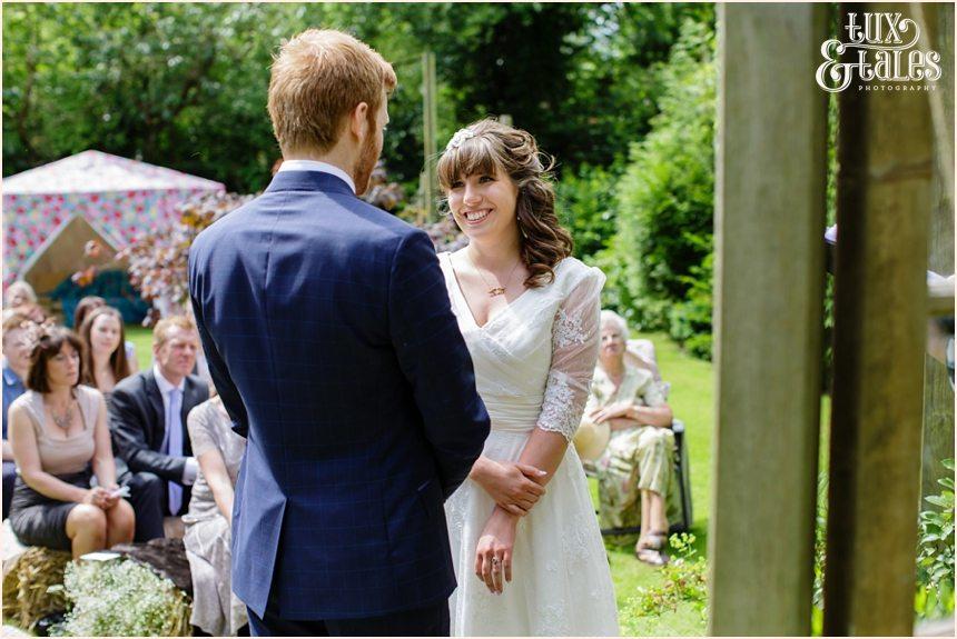 Garden wedding photography in Altrincham
