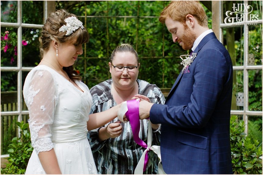 Handfasting in the back garden