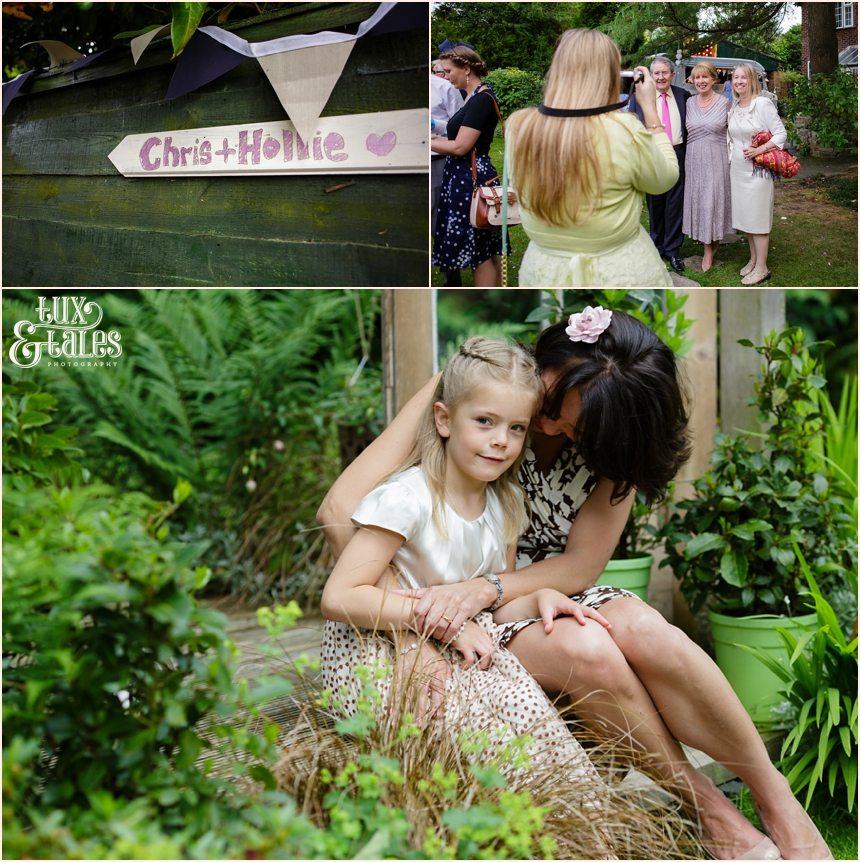 Back garden wedding photography in Altrincham wedding